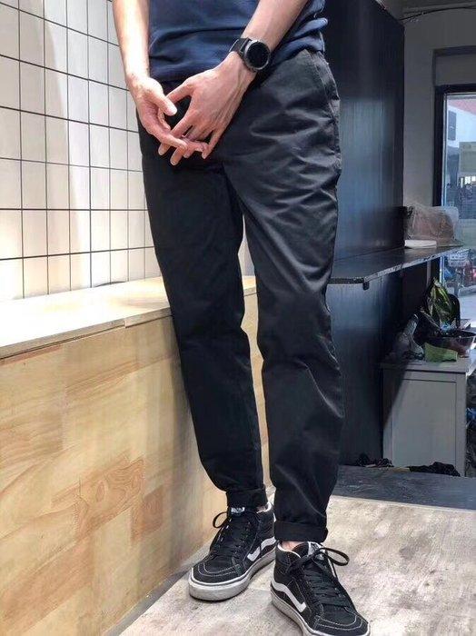 大出清 荷蘭潮牌 DENHAM 18年新款 絲光綿全棉 水洗休閒褲 免燙 黑色33腰