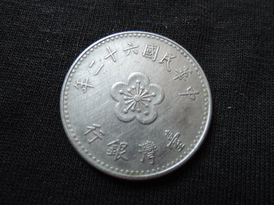 【寶家】民國六十二年發行 62年 壹圓/ 1元 一元硬幣 尺寸25mm【品項如圖】@369