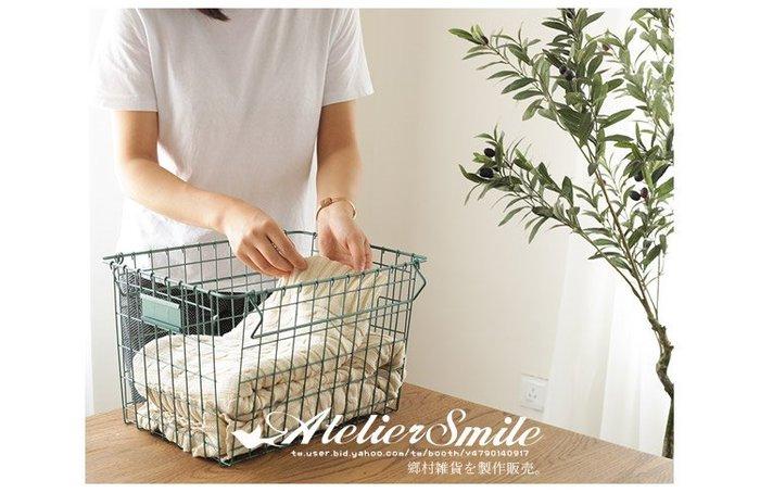 [ Atelier Smile ]  鄉村雜貨 北歐風 金屬鐵製收納籃 ins 置物籃 鐵籃 桌面收納 雜物籃 # B