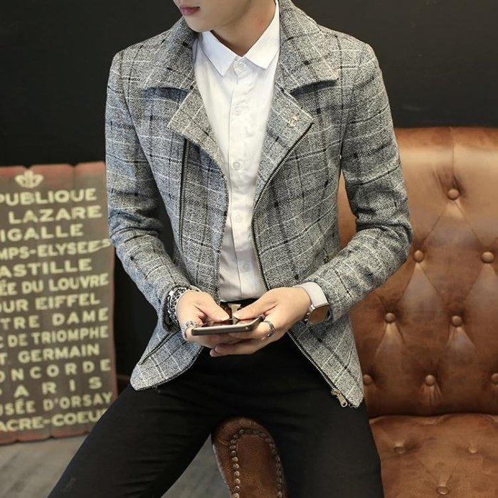 夾克男2018春季新款帥氣青少年修身韓版休閒潮流衣服男士外套男裝