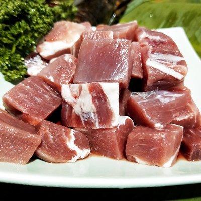 ㊣盅龐水產 ◇豬菲力骰子豬 ◇500g±10%/包 只要120元 挑戰最低 歡迎團購 夯肉