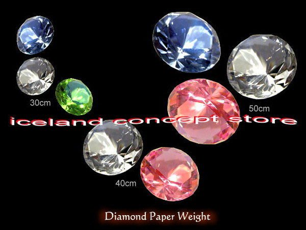 iceland ~ 40mm BlingBling水晶鑽石紙鎮 情人好禮 (iceland 獨家發售)