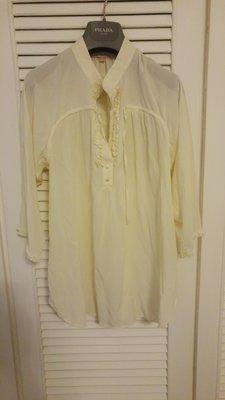 Rebecca Taylor 超仙氣純蠶絲珠母貝釦襯衫