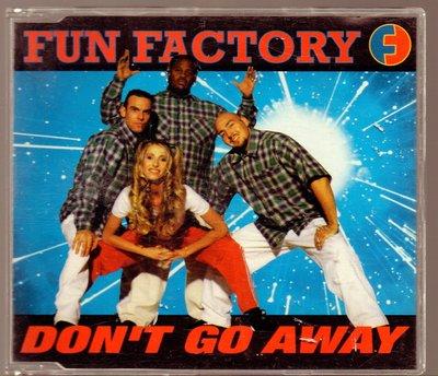 【影音收藏館】上華 1996 FUN FACTORY 遊戲工廠【DO'NOT GO AWAY】單曲CD 九成新