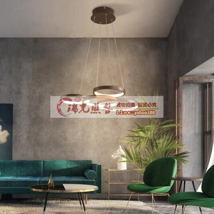 【美燈設】北歐餐廳吊燈藝術吧臺創意led飯廳小餐桌三頭極簡簡約現代燈飾