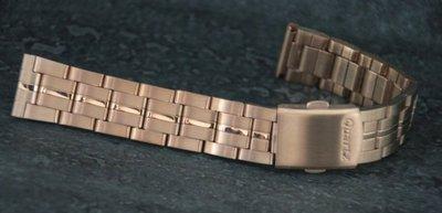 18mm玫瑰金色~sea master 中光海馬風格不鏽鋼錶帶,非烤漆,seiko, citizen, nixon
