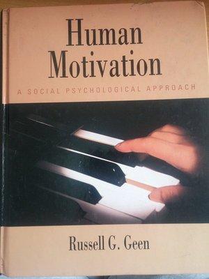 (20)原版精裝《Human motivation 》ISBN:0534238505│些微泛黃