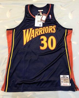 M&N Stephen Curry 新人年 Authentic Jersey SZ 52 XXL 球員版