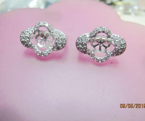 [一品軒庫存促銷品]925純銀珍珠.玉石大款豪華鑲鑽造型耳環..