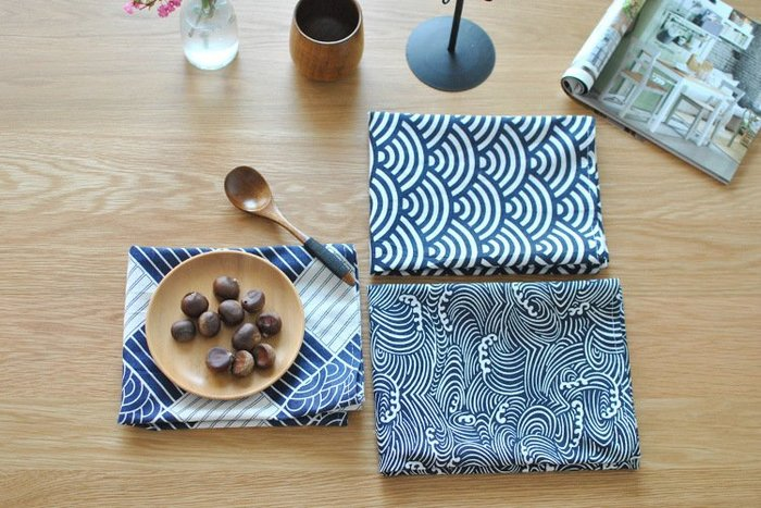 傳統日式餐墊/ 壽司餐巾/ 棉麻家居蓋布背景布
