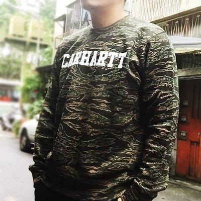 【紐約范特西】現貨 CARHARTT WIP College Sweatshirt CAMO TIGER 虎紋迷彩大學T