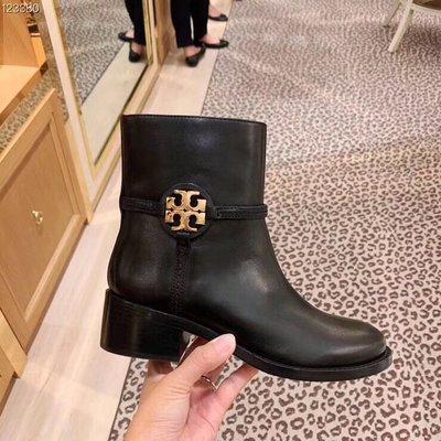 【全新正貨私家珍藏】TORY BURCH MILLER BOOTIE 真皮短靴黑色特價