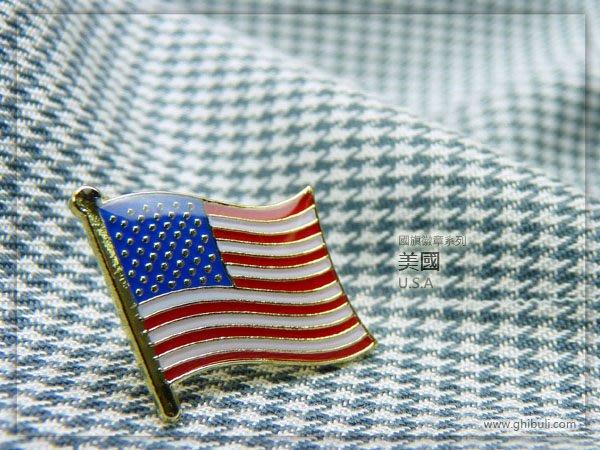 【國旗徽章達人】10入+盒子。美國國旗徽章/國家/胸章/別針/胸針/USA/超過50國圖案可選