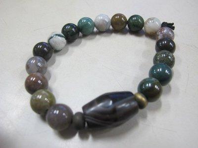 二手舖 NO.3306 天然玉石 三色手珠 手鍊 首飾飾品