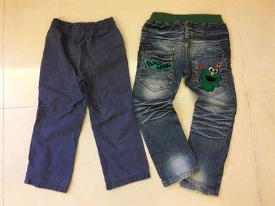 二手Carter's 男童長褲+韓國正版童裝牛仔褲 二件合售 110cm 韓國正版BunnyJoy 牛仔褲