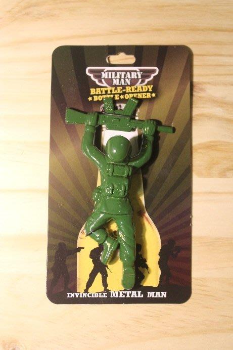 (I LOVE樂多)日本進口 MILITARY MAN 鐵製綠兵 造型開瓶器 玩具總動員 送人自用兩相宜