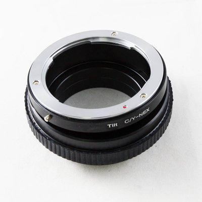 精準360度 移軸 Tilt CONTAX C/Y CY鏡頭轉Sony NEX E卡口相機身轉接環 CONTAX-NEX