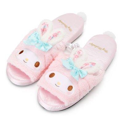 玫瑰默契*日本進口Melody美樂蒂粉紅兔耳系列~可愛室內脫鞋(防滑底)特價