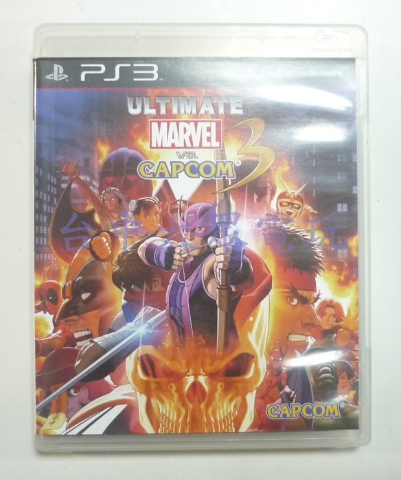 PS3 終極美國英雄 VS 卡普空3 (日英文亞版)**(二手片-光碟約9成8新)【台中大眾電玩】