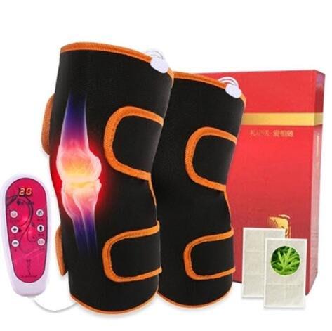 附遙控器 智能電熱護膝關節按摩器  電動按摩器 保暖 炎艾灸膝蓋理療加熱儀 寒腿男女士老人腿部按摩器9522