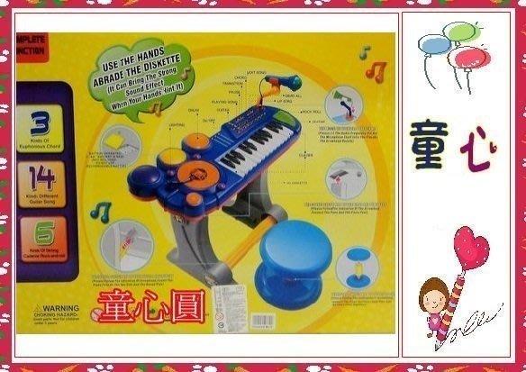 (BB69B)CE 豪華版卡拉ok電子琴組 電子琴鼓 附麥克風 演奏椅 特價 8 0 0◎童心玩具1館◎