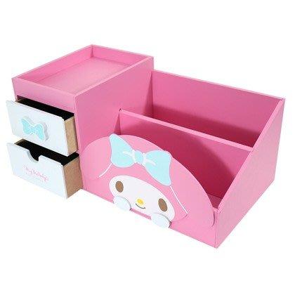 新款上市~限時優惠價 正版 木製 美樂蒂 可愛收納櫃 收納盒【羅曼蒂克專賣店二館】MM-1013