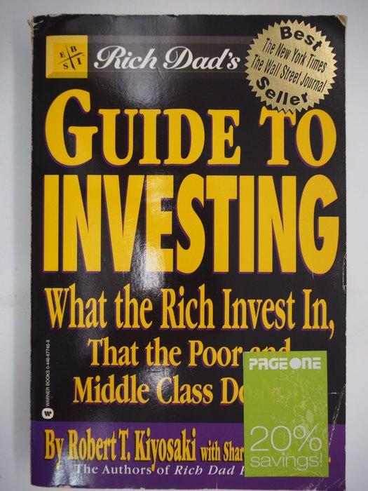 【月界】Rich Dad's Guide to Investing_Kiyosaki_富爸爸·提早享受財富〖理財〗AJD