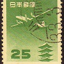 薇薇笑 1013期 004日郵 1952-62 昭和27-36年 日本國 航空切手 單位五重塔 25丹 舊票 共1枚