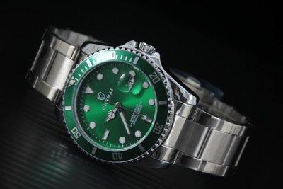 超潮新品上架時尚勞利仕名款水鬼submarine造型石英錶 MAN SIZE 不鏽鋼製錶帶