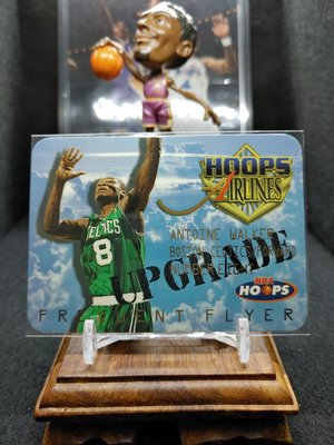 1997-98 Hoops Frequent Flyer Hoops Airlines Upgrade Antoine Walker 1:360 高比例特卡