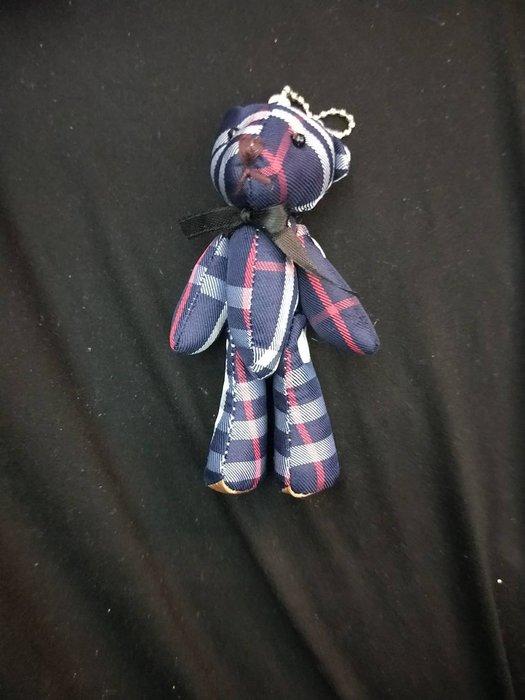 特價品 格紋熊 鈕釦熊 四肢可轉動 絨毛 玩偶 吊飾  娃娃機 可面交