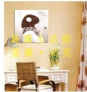 [王哥廠家直销]兒童房床頭掛畫現代客廳裝飾畫卡通人物壁畫蝴蝶少女無框畫擋電箱LeGou_2673_2673
