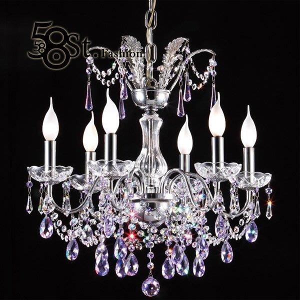 【58街】swarovski 施華洛世奇水晶珠「台灣製造高檔水晶吊燈飾」美術燈,複刻版。GH-466