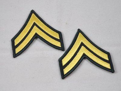 美國陸軍/USARMY 常服軍銜 徽章/臂章 下士/E4 Corporal