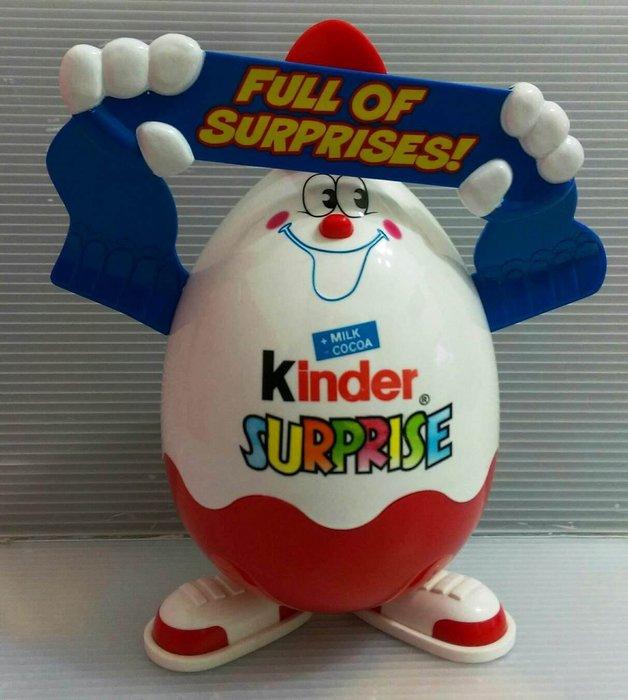 龍廬-自藏二手出清~公仔置物盒-kinder健達奇趣蛋造型公仔糖果盒高25cm /老玩物/只有一組