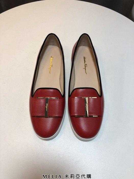 Melia 米莉亞代購 2018年 SALVATORE FERRAGAMO 菲拉格慕 平底鞋 懶人鞋 穿上顯腿長 紅色