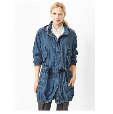 MISHIANA  美國品牌GAP Tencel military parka 藍色牛仔外套( 新款上市.特價出售 )