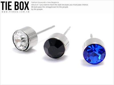 【鐵BOX】N201 個性水鑽鋼針耳環...