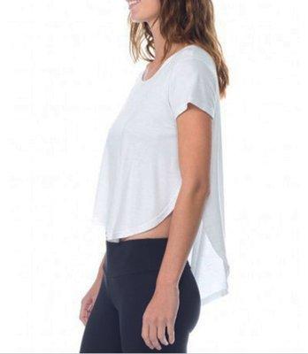 愛運動~運動健身短袖T恤/輕盈透氣寬鬆遮臀速乾/瑜伽健身訓練熱舞運動上衣  R1863