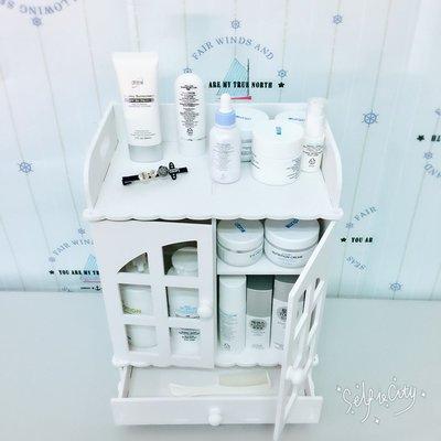 【全新品】創意桌面化妝品收納盒抽屜式梳妝台護膚品儲物櫃DSHY  [巧靈店]