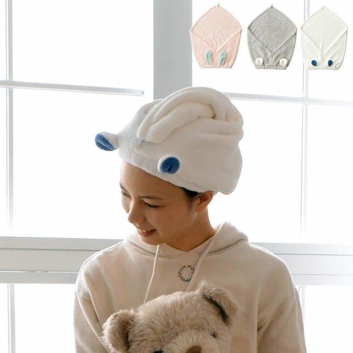 日本carari 三倍吸水 成人乾髮帽 速乾 動物乾髮帽
