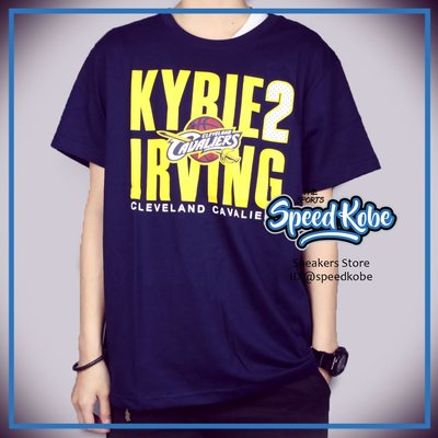 春夏服飾 NBA 短T Irving 2 深藍黃點點 號碼 短袖 創信 8730260-111 -SPEEKOBE-