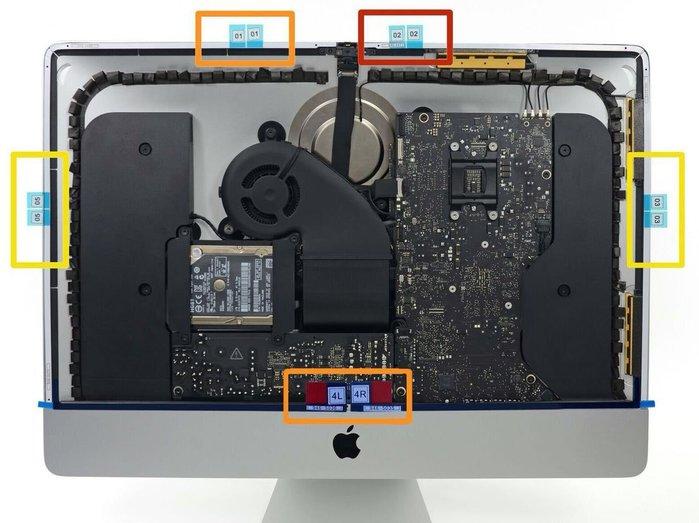 iMac 27吋 5K(A1419)2017 原裝液晶固定膠條(非仿貨導致液晶掉落破裂)含稅,選購:拆機工具與其它膠條