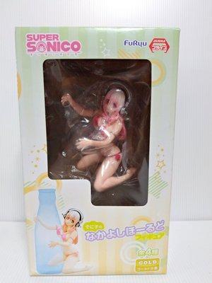 超級索尼子 Super Sonico 抱瓶 泳裝 乳壓杯面 泳裝跪姿 抱瓶子 港版 現貨 公仔