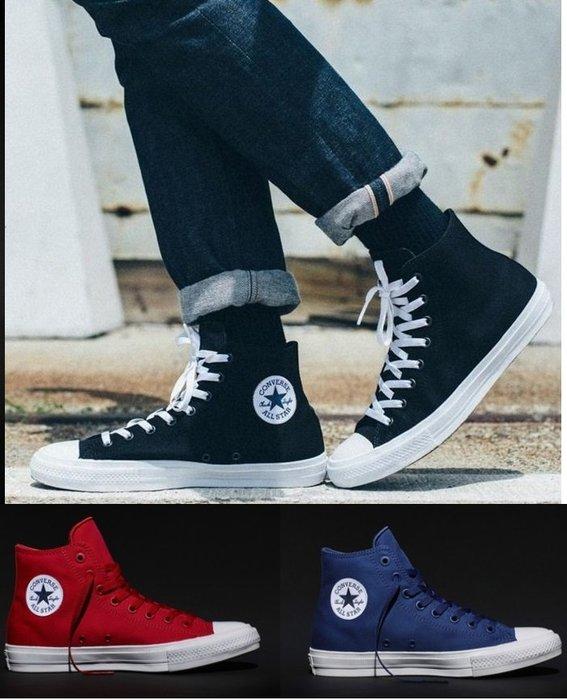 一雙免運all star二代帆布鞋converse Chuck Taylor All Star II經典再續情侶鞋N字鞋