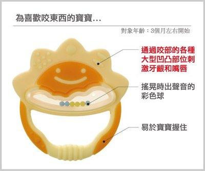 [小寶的媽] 日本利其爾Richell 固齒器 (盒裝)橘黃色一般型 423035(附收納盒)