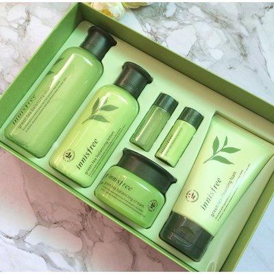 韓國 innisfree 悅詩風吟 化妝水 綠茶籽精華平衡水乳6件套組 保養組