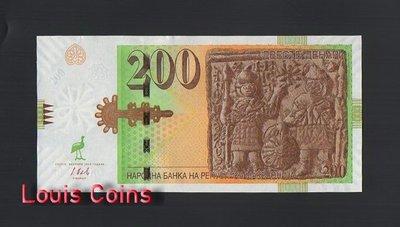 【Louis Coins】B1032-MACEDONIA-2016馬其頓紙幣,200 Denari