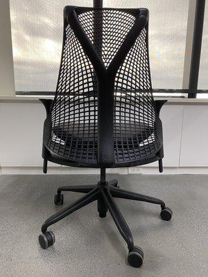 【二手特賣】美國 Herman Miller SAYL 人體工學電腦椅(時尚經典黑)