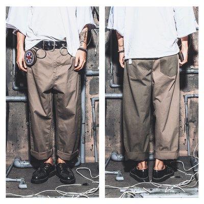 美國東村【SLIGHTLY NUMB】LOT.720-2 WIDE PANTS 卡其 套裝 雙色 拼接 休閒 長褲